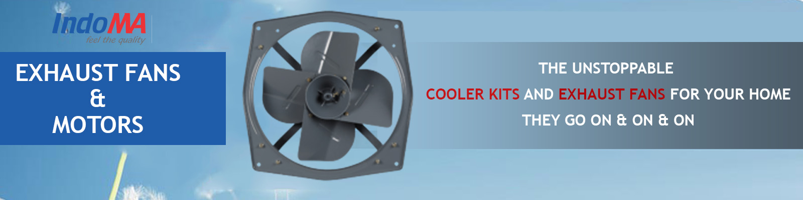 exhaust fans and motor
